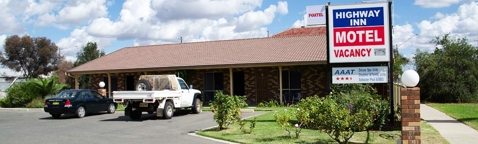 The Highway Inn Motel is AAA rated 4 stars conveniently situated on the Mid Western Highway